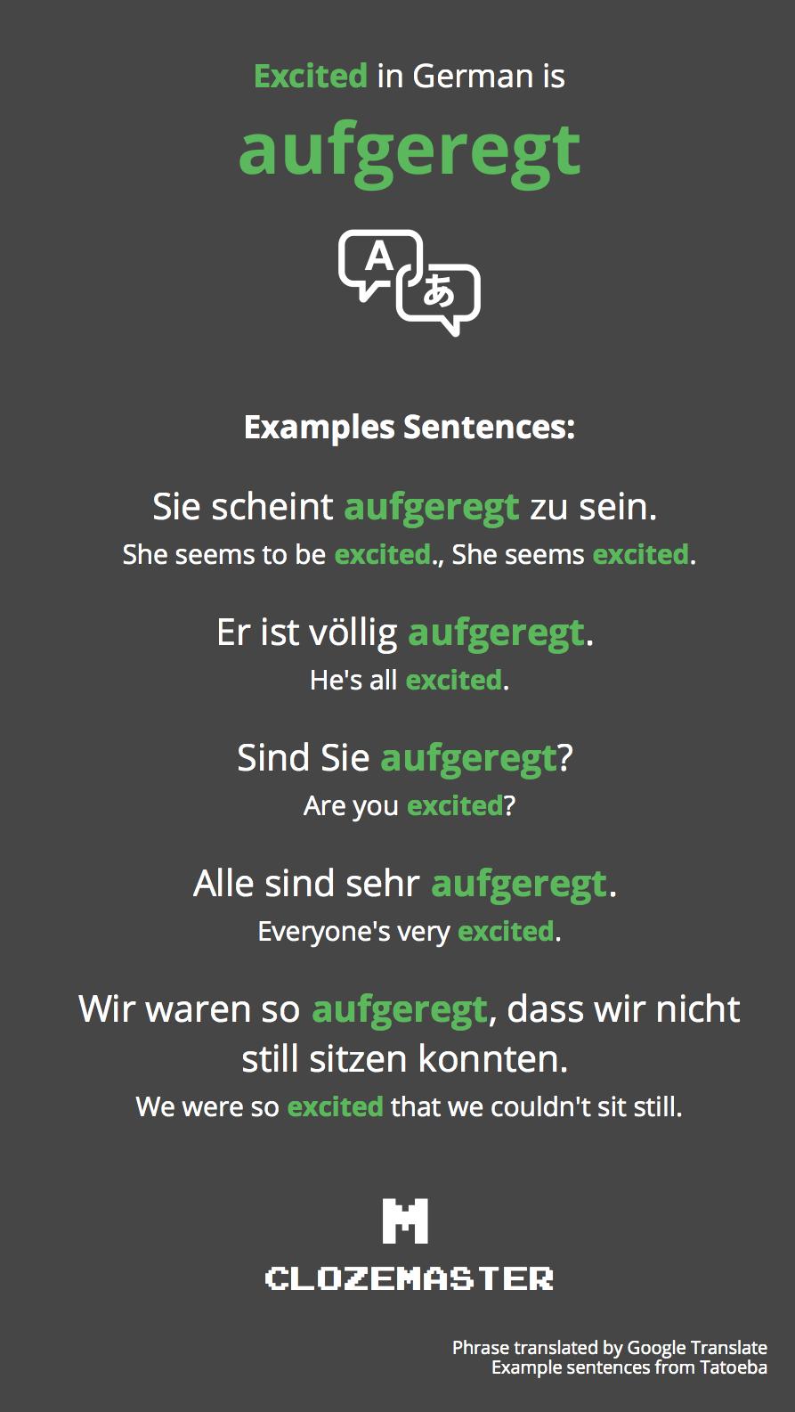 Excited Auf Deutsch