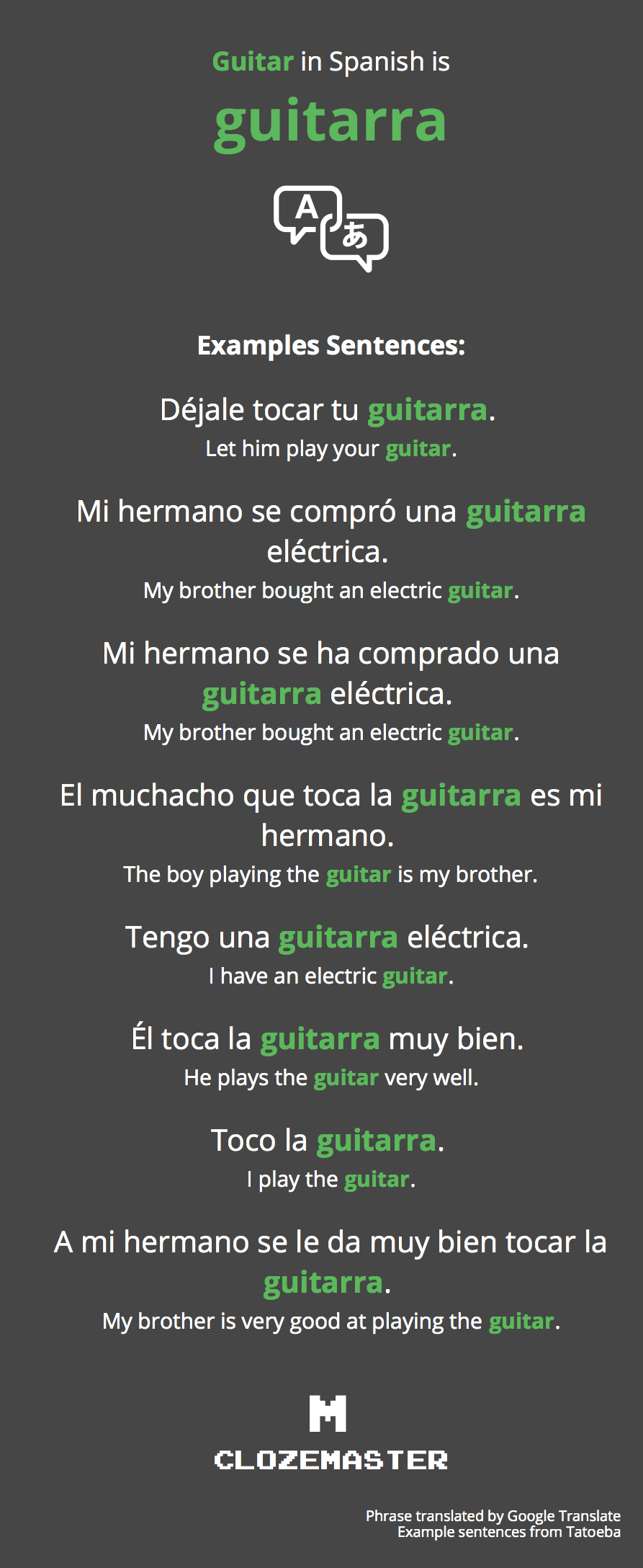How To Say Guitar In Spanish