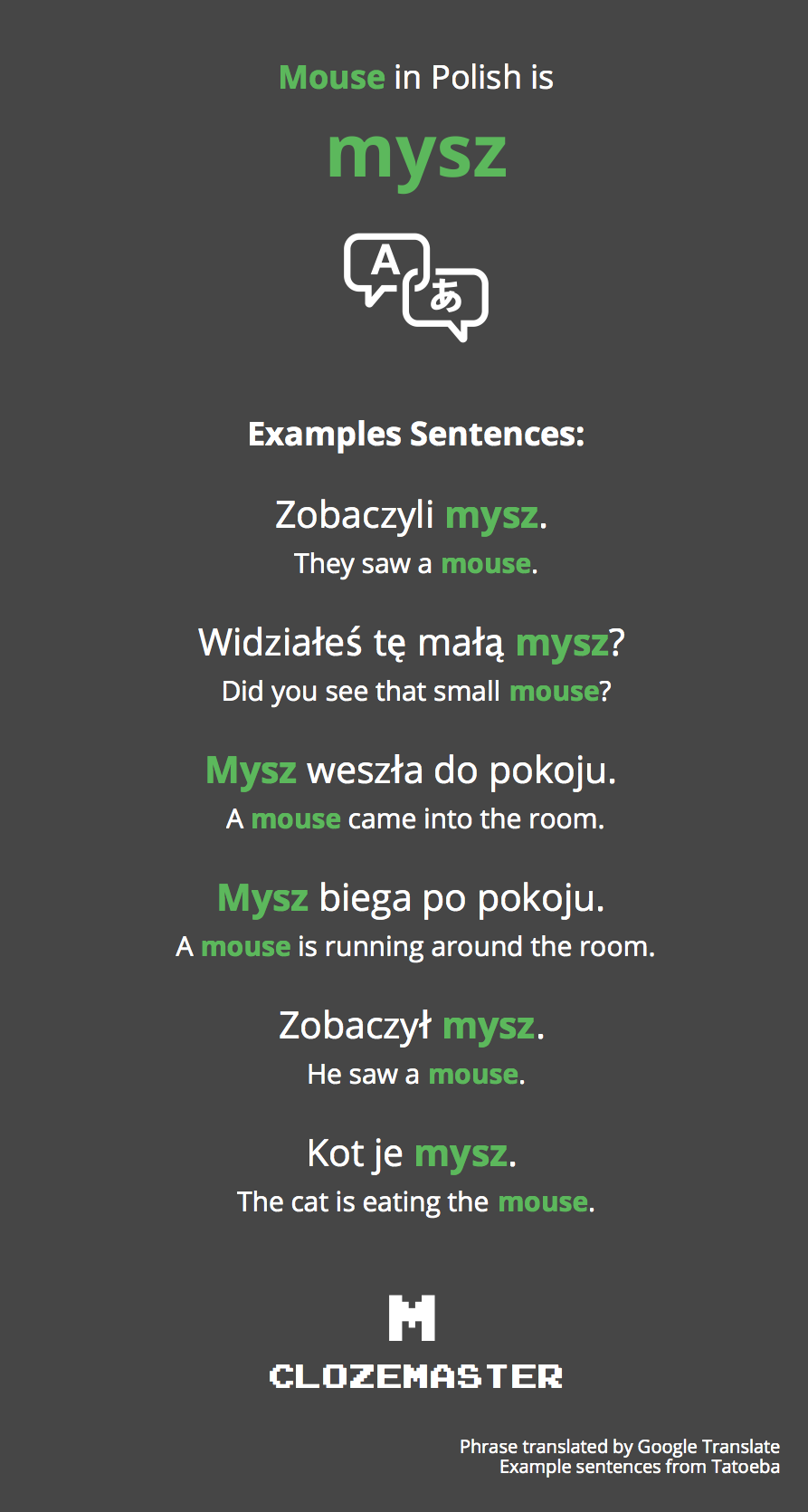 Mouse In Polish Translation And Example Sentences